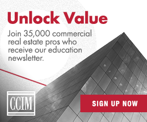 Ad: Sign up for CCIM Institute's Education Connection Newsletter.