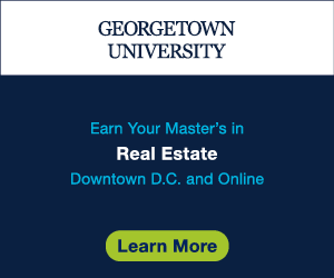 Ad: Georgetown University Master's in Real Estate