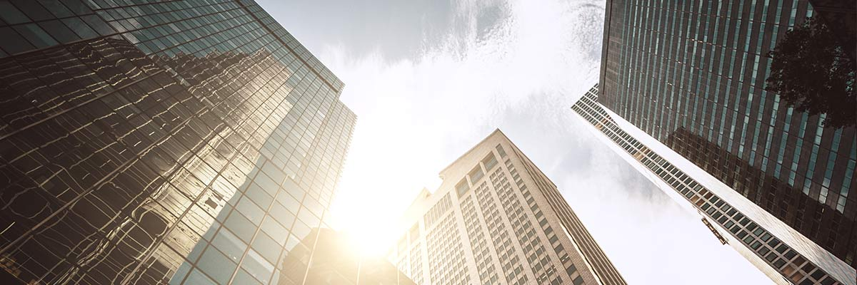Buildings Sunny with a Few Clouds crop img